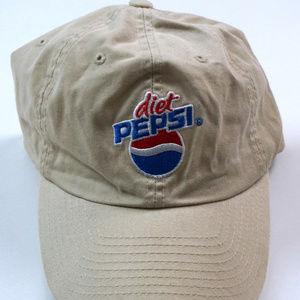 fd80e44a0d8 Pepsi Accessories - Diet Pepsi Adjustable Strapback Dad Hat Beige OSFA